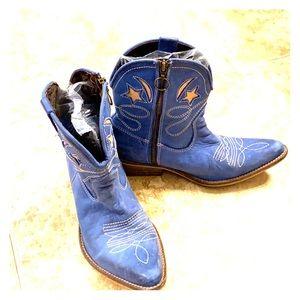 Jeffrey Campbell Blue Cowboy boots